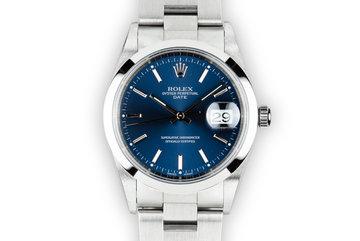 2000 Rolex Date 15200 Blue Dial photo