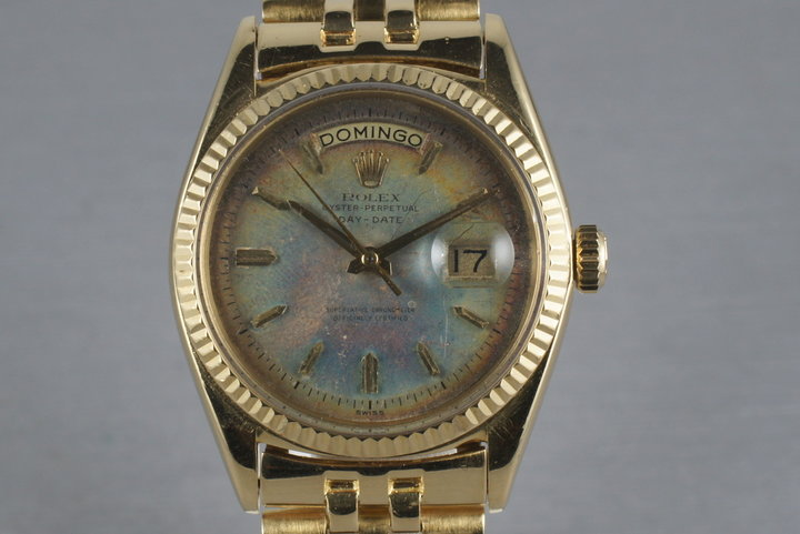 Rolex Vintage 18K YG President: Ref 1803 with Rainbow Swiss Only Dial photo