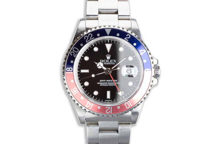 """1999 Rolex GMT-Master 16700 """"Pepsi"""" Swiss Only Dial with Box & Papers photo"""