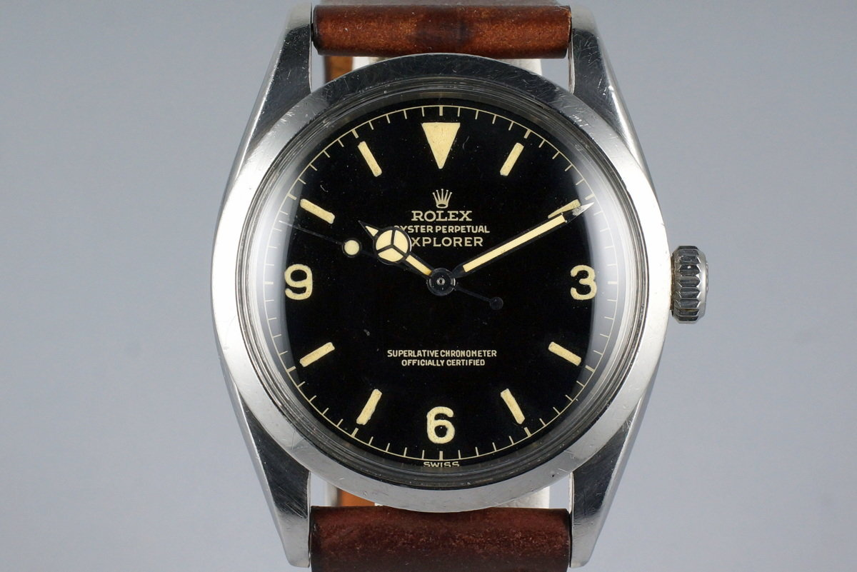 1960 Rolex Explorer 1 1016 Gilt Chapter Ring Dial with Box and Papers photo, #0