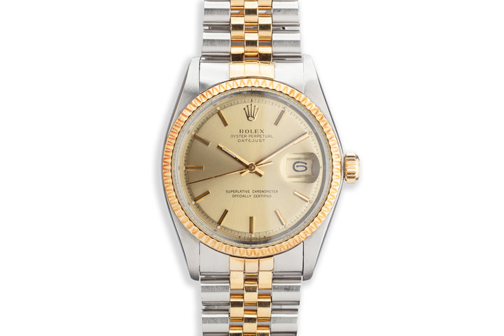 1974 Vintage Rolex DateJust 1601 Gold Dial photo