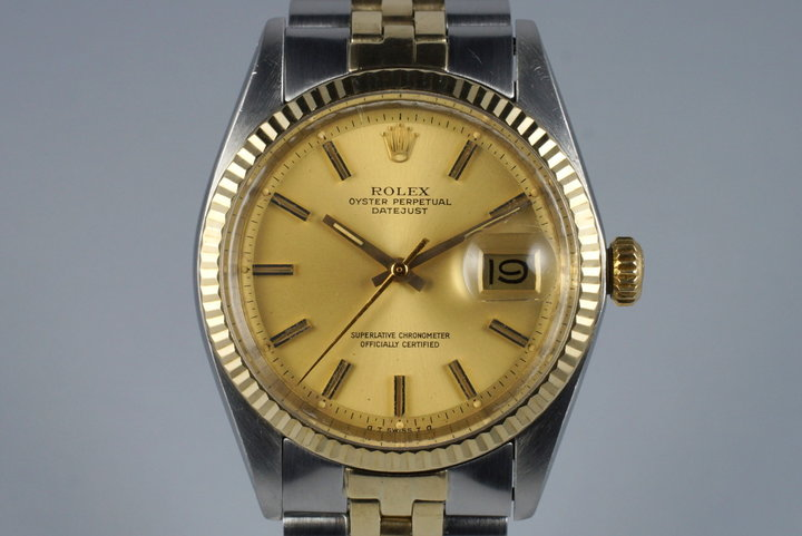 1972 Rolex Two Tone DateJust 1601 with Champagne Sigma Dial photo