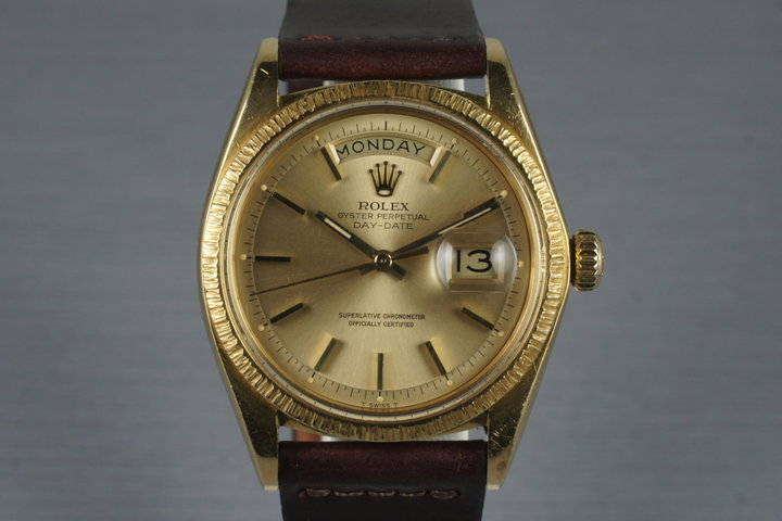 1972 Rolex 18K YG Bark Day-Date 1807 photo