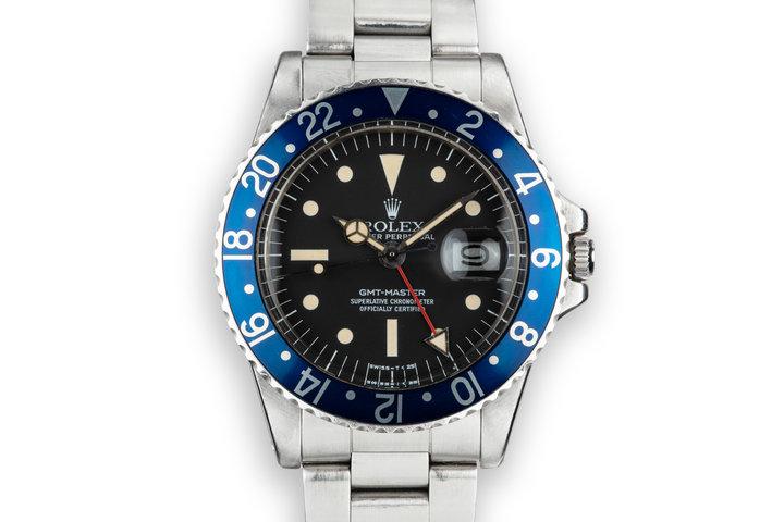 """1976 Rolex GMT-Master 1675 """"Blueberry"""" photo"""