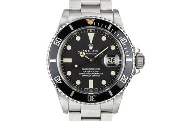 1983 Rolex Submariner 16800 Matte Dial photo