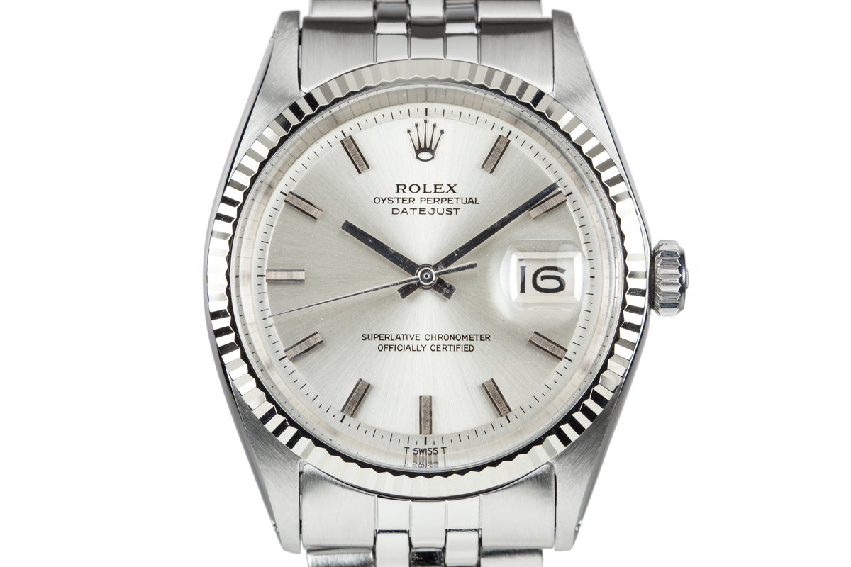 1970 Rolex DateJust 1601 Silver Dial with No Lume Dial photo, #0