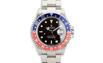 "2005 Rolex GMT-Master II 16710 ""Pepsi"" with ""Error"" Dial photo"