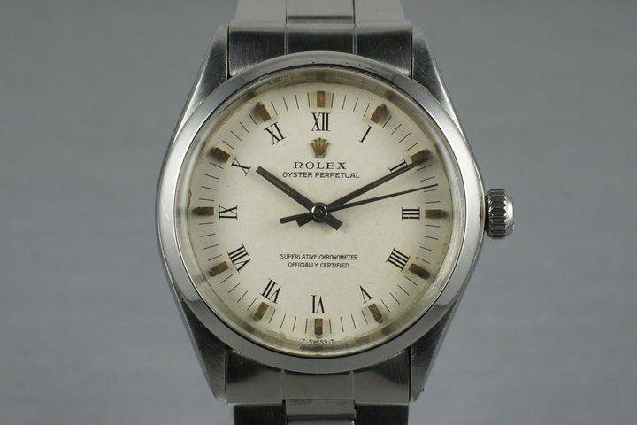 1972 Rolex Oyster Perpetual 5500 White Roman Numeral Dial with Papers photo