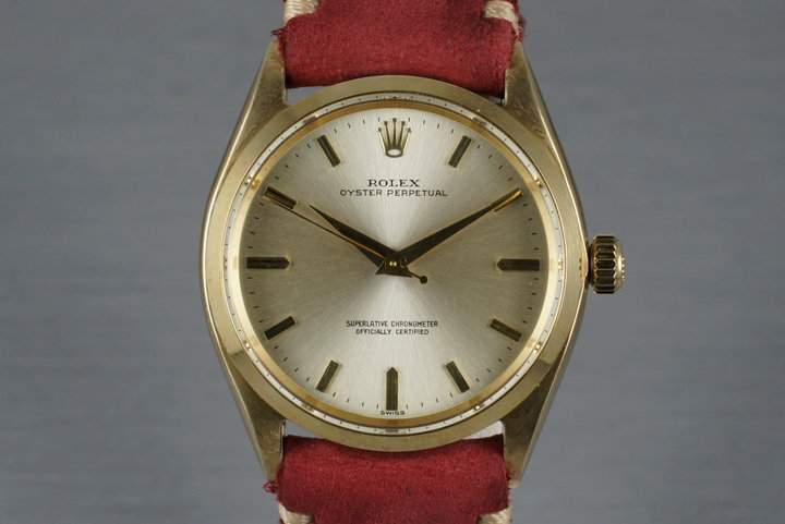 1961 Rolex 14K Oyster Perpetual 1002 photo