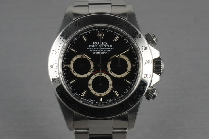 Rolex SS Zenith Daytona 16520 Box and Papers with Black Dial photo