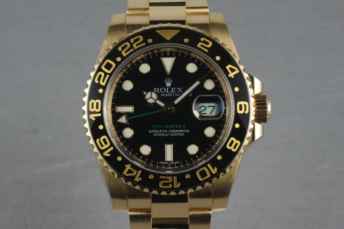 Rolex Ceramic GMT 18K Black Dial 116718 with box and papers photo, #0