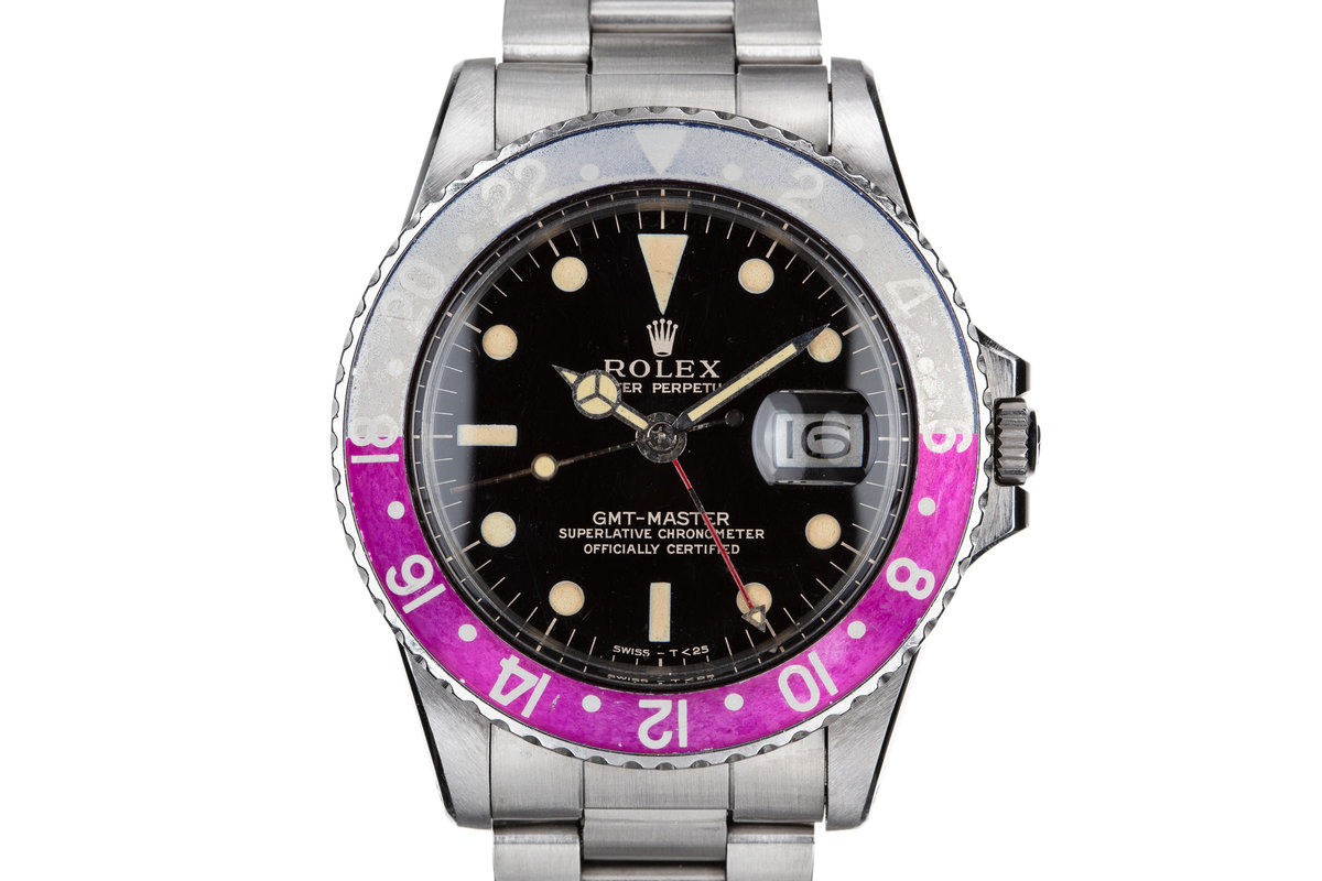 1965 Rolex GMT-Master 1675 Gilt Dial with Fuchsia Bezel Insert photo, #0