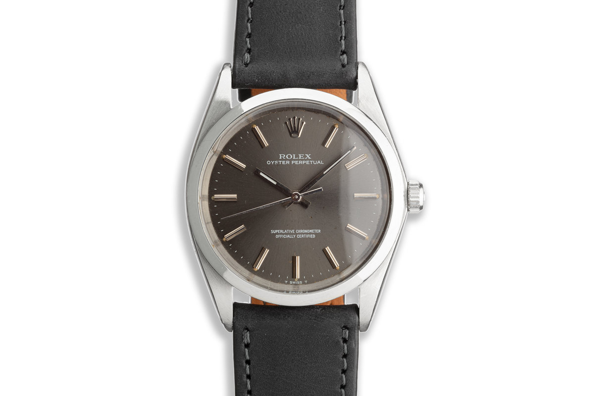 1969 Vintage Rolex Oyster Perpetual 1018 Grey Dial photo, #0