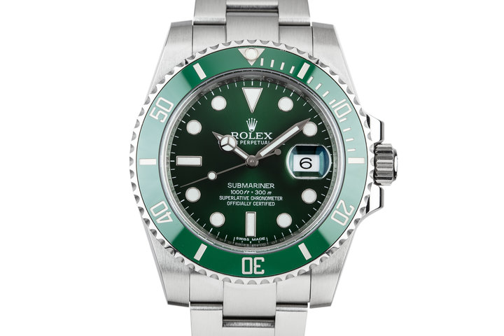 "2014 Rolex Green Submariner 116610LV ""Hulk"" With Box and Papers photo"