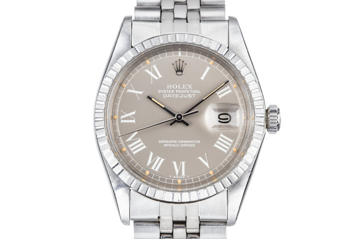 1973 Rolex DateJust 1603 with Grey Large Roman Numeral Dial photo