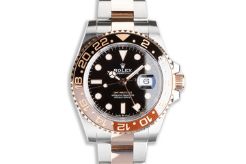 """2018 Rolex Everose GMT-Master II 126711CHNR """"Root Beer"""" with Box & Card photo"""