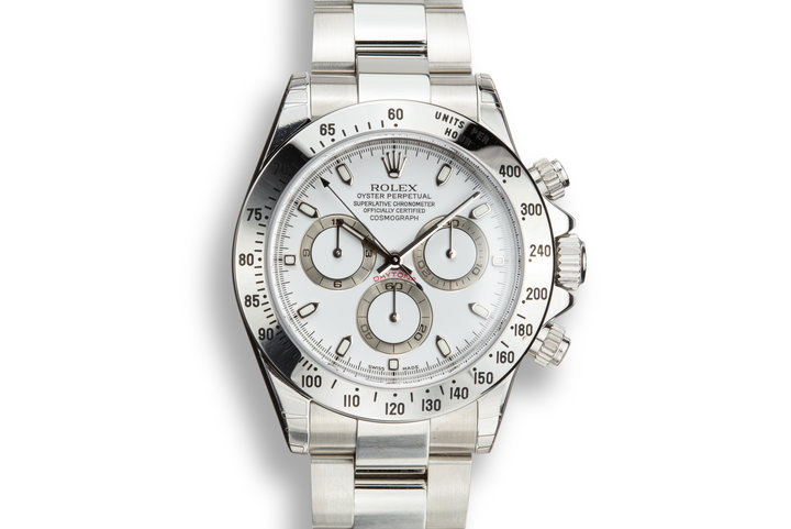 Mint 2003 Rolex Daytona 116520 White Dial with Box and Papers with Stickers photo