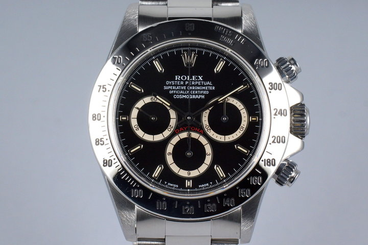1991 Rolex Zenith Daytona 16520 Black 'Inverted 6' Dial photo