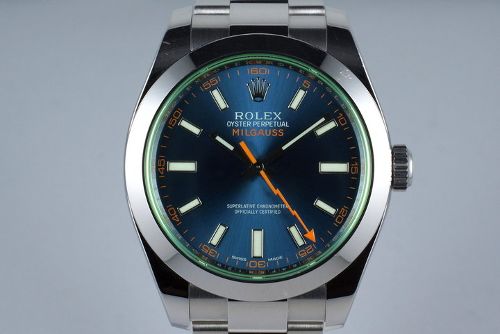 2015 Rolex Milgauss 116400GV with Box and Papers photo
