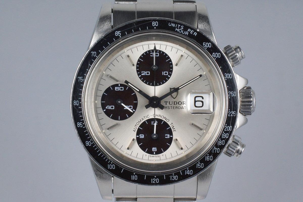 1993 Tudor Chronograph Big Block 79160 Silver Dial with Box photo, #0