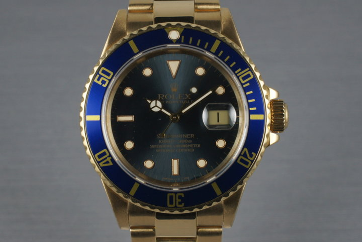 1989 Rolex 18K Submariner 16808 photo