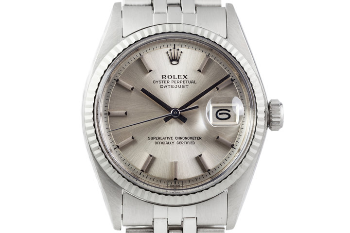 1971 Rolex Datejust 1601 Silver Non-Lume Dial with Box and Papers photo