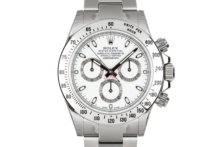 Mint 2015 Rolex Daytona 116520 White Dial with Box and Papers photo