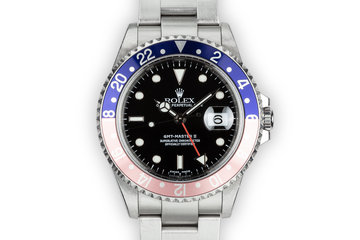 "2001 Rolex GMT-Master II 16710 ""Pepsi"" with Box and Papers photo"