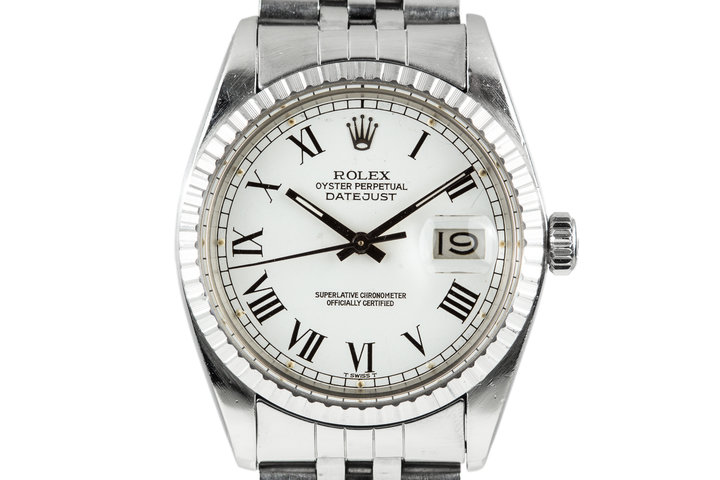 1979 Rolex DateJust 16030 White Roman Numeral Dial photo