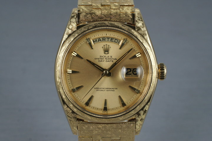 1963 Rolex YG Day-Date 1806 with Morellis Finish and Chronometer Papers photo