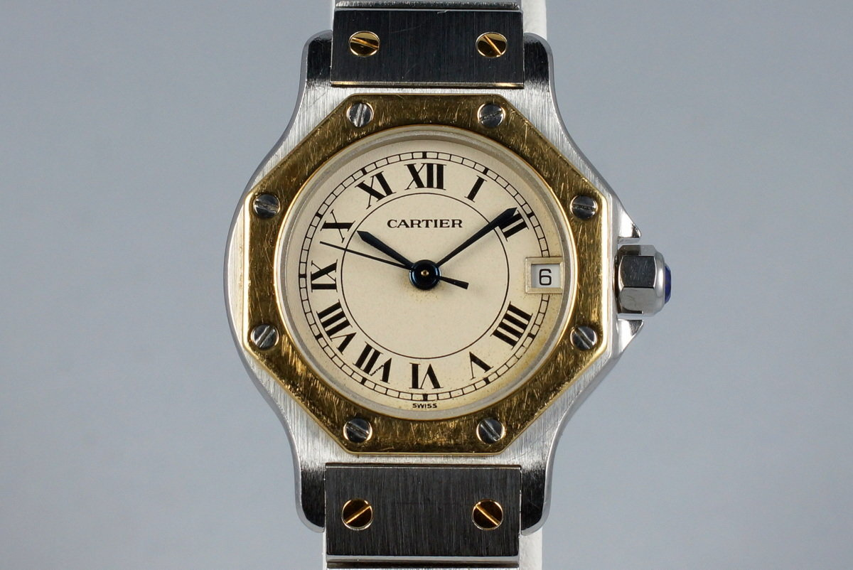 Cartier Ladies Quartz Two Tone Santos Octagon 187903 photo, #0