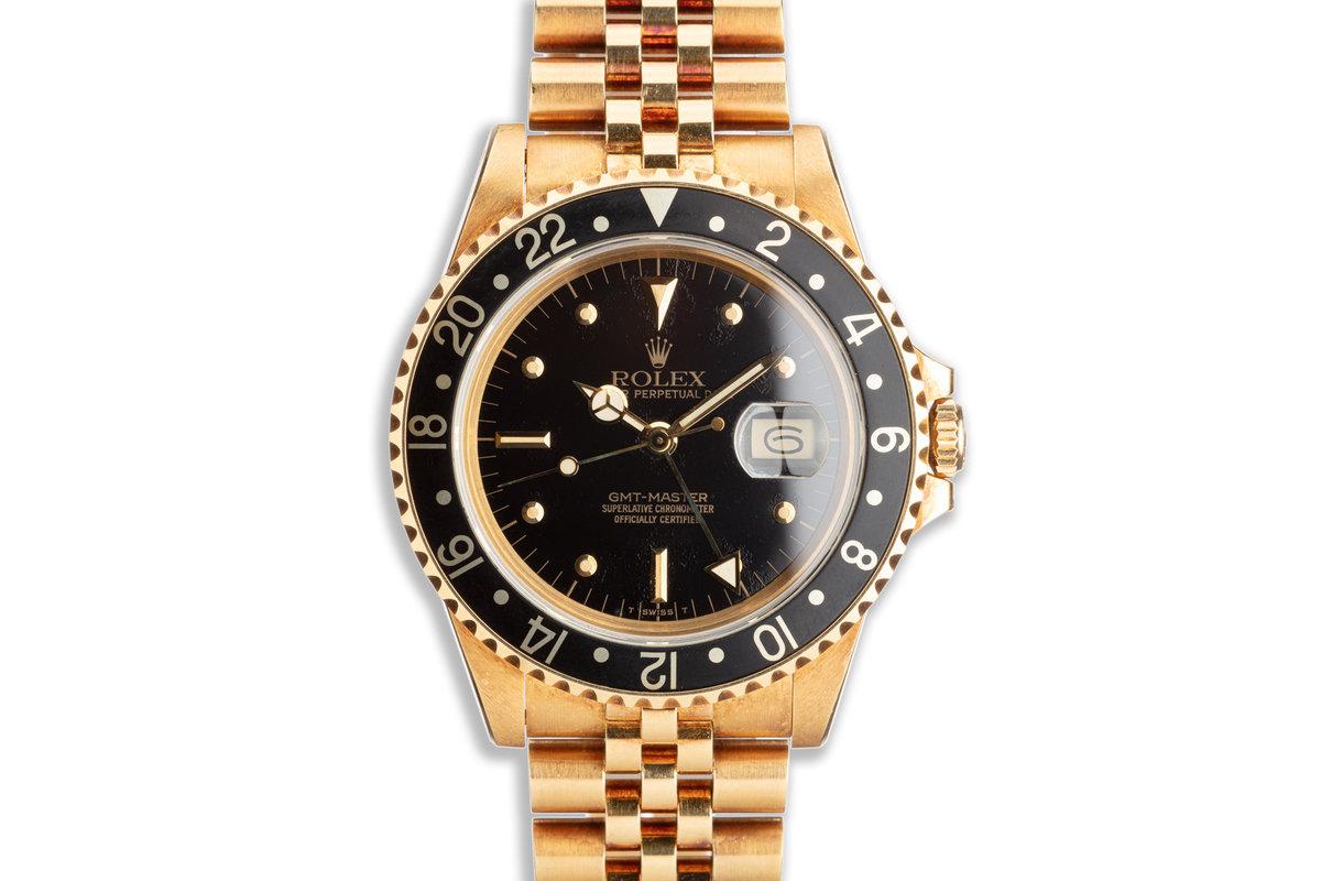 1985 Vintage Rolex 18K GMT 16758 with Unpolished Case photo, #0