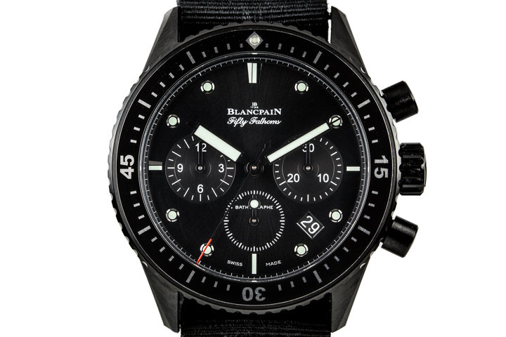 2015 Blancpain Fifty Fathoms Bathyscaphe Ceramic Flyback Chronograph J200130 with Box and Papers photo