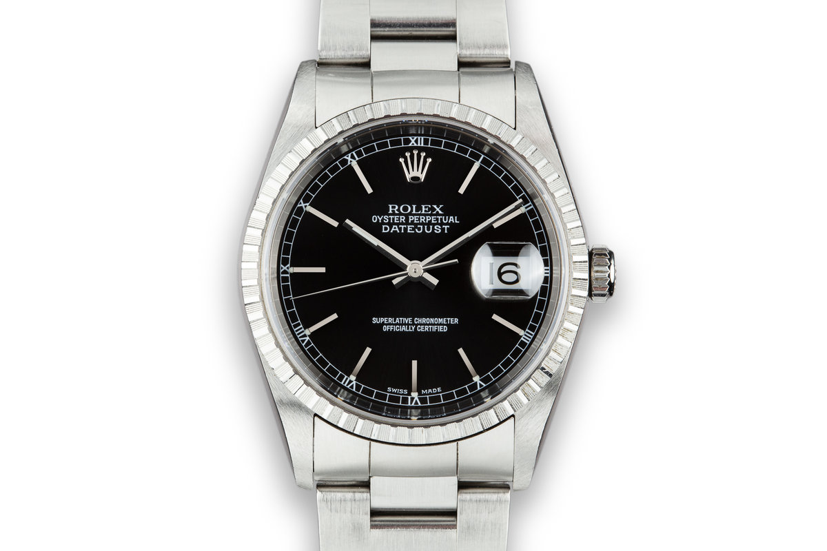2003 Rolex DateJust 16220 Black Dial photo, #0