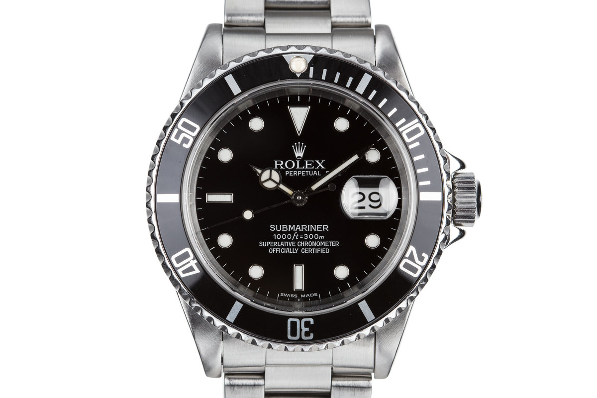 1995 Rolex Submariner 16610 with Luminova Service Dial and Box photo, #0