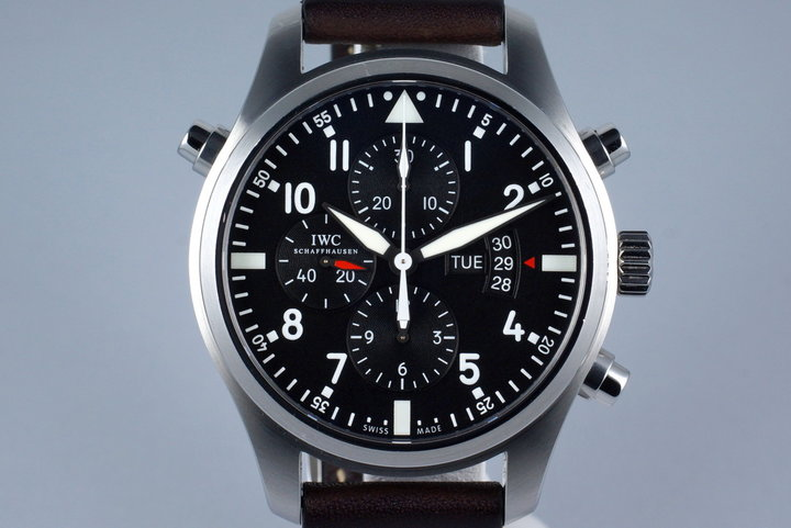 2015 IWC Pilot's Watch Double Chronograph IW3778 with Box and Papers photo