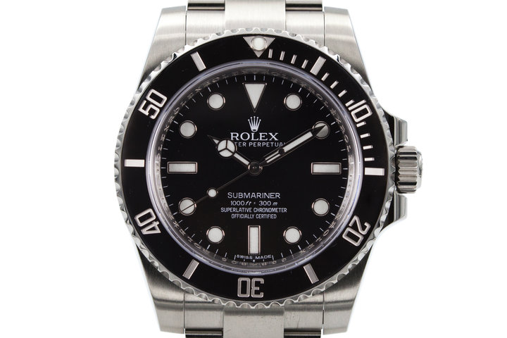 2013 Rolex Ceramic Submariner 114060 with Box and Papers photo