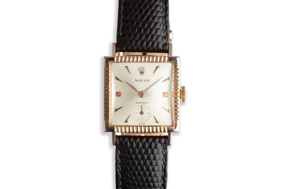 "Vintage 18k Rose Gold ""Dropped Second"" Dress Watch photo, #0"