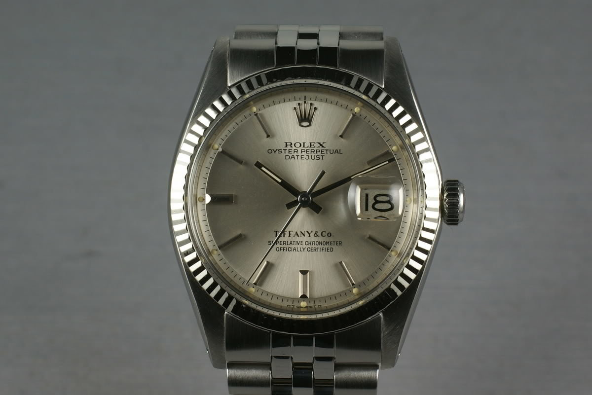 Rolex Stainless Steel Datejust 1603 Tiffany and Co. photo, #0