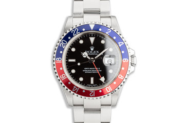 "2000 Rolex GMT-Master II 16710 ""Pepsi"" Bezel with Box and Papers photo"
