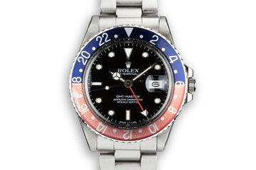 """1988 Rolex GMT-Master 16750 """"Pepsi"""" photo"""