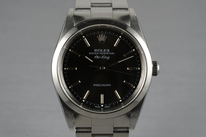 2002 Rolex Air-King 14000M with Black Dial photo