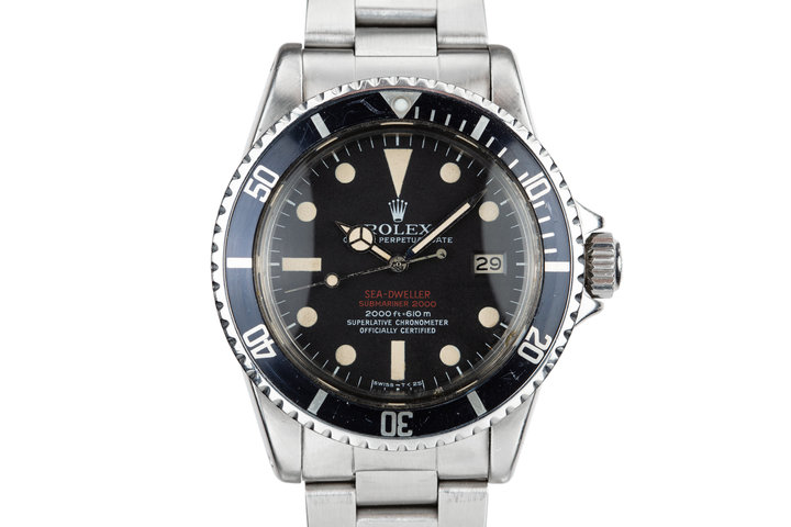 1972 Rolex Double Red Sea-Dweller 1665 with MK III Dial photo
