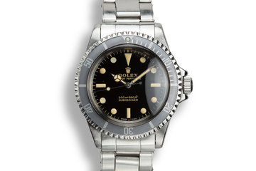 1964 Rolex Submariner 5513 Gilt Dial with Service Papers photo