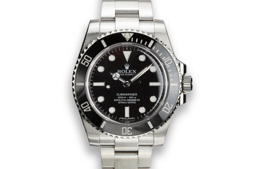 2014 Rolex Submariner 114060 with Box and Papers photo