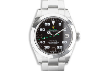 2019 Rolex 40mm Air-King 116900 with Warranty Card photo
