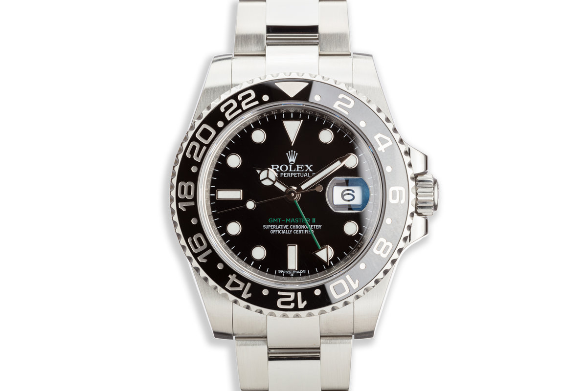 2016 Rolex GMT-Master II 116710LN Black Bezel with Box and Papers photo, #0