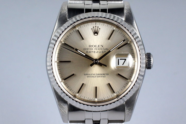 1991 Rolex DateJust 16220 Silver Dial photo