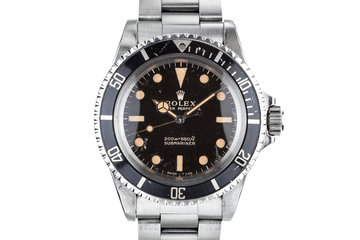 1966 Rolex Submariner 5513 Gilt Dial with Service Papers photo