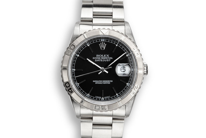 "1995 Rolex DateJust 16264 ""Thunderbird"" Black Dial photo"
